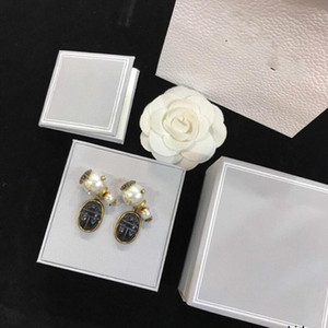 Big and small pearl earrings are very convenient to wear Zircon studs jewelry square earrings gift earings for women Gifts 032304