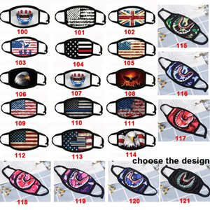 America bandiera Mask Shark maschere camuffamento Hip Hop Maschera Viso Bocca adulti maschere bambini di cotone Maschera Resuable DHL trasporto veloce
