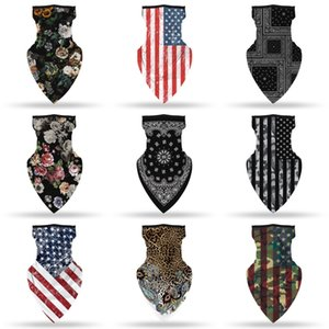 Cycling Masks Scarf Unisex Bandana Motorcycle Scarves Headscarf Neck Face Mask Outdoor US Flag Printing Cycling Headband ZZA2165 50 1Pcs##203