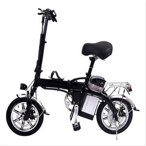 In Stock Electric Bicycle Germany Wholesale GYL004 14 inch 12Ah 350W Mini Foldable Electric Bicycle Double disc brake 35km h Max Speed