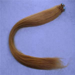 """Tape In Human Hair Extensions None Remy Straight Skin Weft Hair 12"""" 16"""" 20"""" Malaysian Pu Hair"""