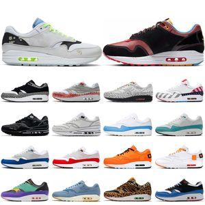 max 1 Atom Teal Moda Erkekler Kadınlar Koşu Ayakkabı 1 Yıldönümü kraliyet Yama Parra Porto Riko 87 Erkek Spor Platformu Sneakers des chaussures