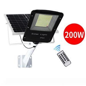 Lâmpadas Umlight1688 200W 300LED Luz Solar à prova d'água Solar powered Outdoor Solar Rua Wall Light Garden Lamp Controle Remoto
