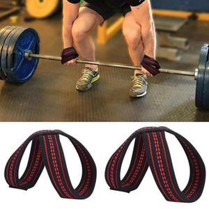 Alça de pulso de elevação Figura 8 Peso Straps Morto Levante para pull-ups Horizontal Bar Powerlifting Gym Fitness Equipment Musculação