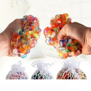 Anti Stress Reliever Rainbow Grape Ball Squishy Phone Straps Mood Relief Hand Wrist Squeeze Toy Decompression Toys Novelty Items OOA4880