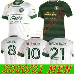 Бесплатный корабль New 2020 2021 MLS Portland Timbers Home Soccer Tehersys 20 21 Blanco Chara Valentin Valeri Men Football Jersey Рубашки
