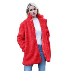 Faux Fur Coat Women Black Pink 6 Colors XS-4XL Plus Size Loose Fur Jackets 2020 Autumn Winter Fashion Red Warmth Clothing LD1138