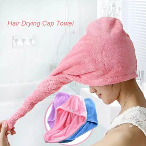 Douche Casquettes Microfibre rapide douche serviette de bain sec Caps magique super Absorbent sèche cheveux serviettes cheveux Wrap Spa Bain Chapeau DHC425