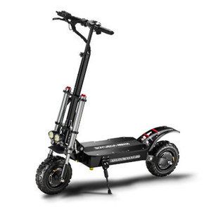Off-road electric scooter double drive with 60V 5200W adult fast folding 11 inch road tire city bike