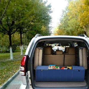 접이식 자동차 트렁크 보관 가방 옥스포드 천 자동차 트렁크 깔끔한 가방 주최자 스토리지 박스와 쿨러 잡화 파우치