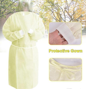 Disposable Protection Gown Non Woven Dustproof Anti Splash Clothing Safely Protection Clothes Working Clothes Aprons DDA189