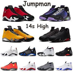 Jumpman Air retro 14 jordan 14 Ferrari 14 14s Ante Hombres Zapatos Rojo Negro Azul Blanco Amarillo LAST SHOT Thunder Hombres Zapatillas de deporte Zapatillas de deporte