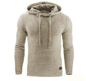 Kol Katı Renk Homme Giyim Moda Düzenli Uzunluk Gündelik Giyim Erkek Tasarımcı Kazak Fleece Kapşonlu Hoddies Uzun