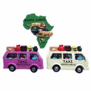 Творческое Южная Африка Такси Карта Lion Tourist Travel Сувенирная 3D Смола Декоративные Магнит на холодильник наклейка Christmas Craft ДАР OkEp #