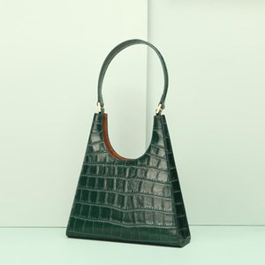 Cuir chaud Sac à main Femmes Design Motif Crocodile Rétro Aisselle Sac à bandoulière mode européenne et américaine Fan de haute qualité Sac vert 1096