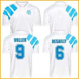 1993 Olympique de Marseille Rétro Commémorer football shirt DESCHAMPS PAPIN BOLI DESAILLY Soccer Jersey VOLLER Marseille Football Jersey 92 93