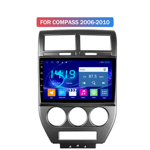 4G + 64G Touch Screen Auto DVD-Player Android Multimedia für Jeep COMPASS 2006-2010 Stereoradio Carplay Spiegel
