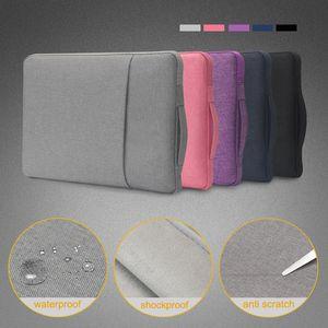 Denim impermeável saco de manga do caderno zíper bolsa para laptop 11 12 13 15 polegadas macbook Air Pro Dell tablet