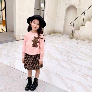 2020 Autunno Inverno del bambino dei capretti neonate vestiti regolati maglia maglioni Tops Maglie con gonna 2PCS Outfits insieme del vestito caldo