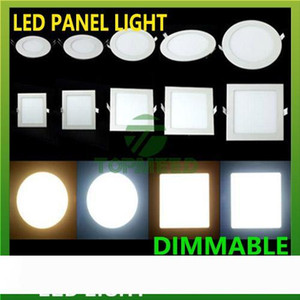 Dimmable Led Panel Light SMD 2835 3W 9W 12W 15W 18W 21W 25W 110-240V Led Ceiling Recessed down lamp SMD2835 downlight + driver
