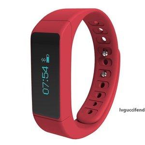 I5 Além disso inteligente Pulseira Bluetooth 4.0 Caller ID mensagem de lembrete relógio inteligente de Fitness Rastreador Passometer sono Smart Monitor Wrsitwatch