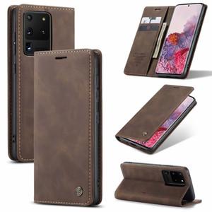 Luxus-Standplatz-Schlag-Mappen-Telefon-Kästen für Samsung Galaxy A10 A20 A30 A40 A50 A70 A51 A71 A10S A20S A31 A41 Back Cover