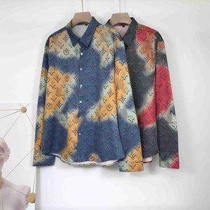 2020 Harajuku printing new men's shirts fashion luxury men's casual designer