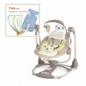 Electric Cradle Rocking Chair Vibration with Music Moonlight Baby Sleeper Baby Swing tsLz#
