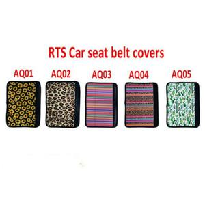 Neopren-Auto-Sicherheitsgurt-Abdeckung SeatBelt Sleeves Sunflower Leopard-Kaktus-Auto-Sicherheits-Sicherheitsgurt-Auflage-Abdeckung Gurt-Bügel-Schulter-Auflage DHA102