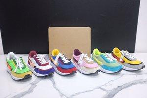 Sacai x LDWaffle Kids Running shoes Boys Girls Green Gusto Sneaker Waffle Pine Green Sneakers LDWAFFLE SACAI LDV Waffle size 22-35