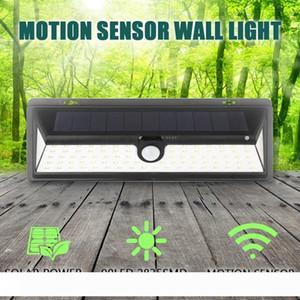 IP65 su geçirmez 34 54 66 90 LED Güneş Işık 2835 SMD Beyaz Güneş Enerjisi Açık Bahçe Işık PIR Hareket Sensörü Yolu Duvar Lambası