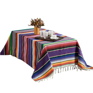 Beach Blanket Cotton Handmade rainbow Mexican blanket outdoor camping Picnic Mat Home Tapestry Table mat cobertor