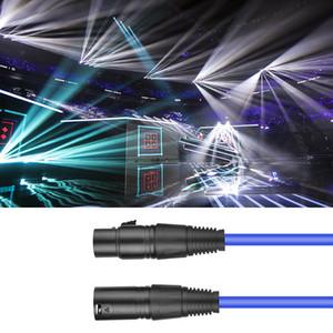 المهنية XLR سلك ذكر لأنثى ضوء المرحلة سلك كابل الصوت ميكروفون الكابل مستلزمات إضاءة الأزرق