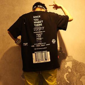Januarysnow Mode-Buchstabe gedrucktes Kurzarm T-Shirt Hip Hop Casual T Shirts Lustige Sommer-Baumwoll Harajuku Tees Street-T-Shirts