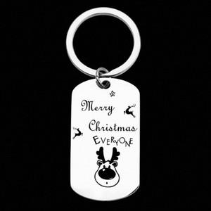 Персонализированные цепи из нержавеющей стали брелок Пользовательские Foot Антилопа гора брелок Рождество Серебряный ключ Подарочные Пары Брелки Пара 35fv #