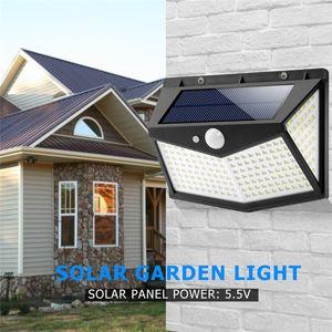 Lâmpada solar 212 LED Luzes ao ar livre com segurança Motion Sensor de luz Waterproof Luzes Luminaria solares para decoração de jardim