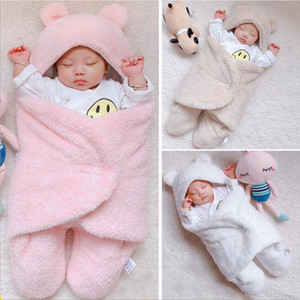 Baby Blankets Cotton Newborn Girl Swaddle Solid Infant Boy Sleeping Wrap Blanket Photography Props Nursery Bedding Supplies 3 Colors DW4804