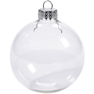 bolas de casamento Bola de enfeites de Natal Xmas Esferas de vidro Decoração 80 milímetros bolas de Natal de vidro transparente enfeites de Natal DHF36