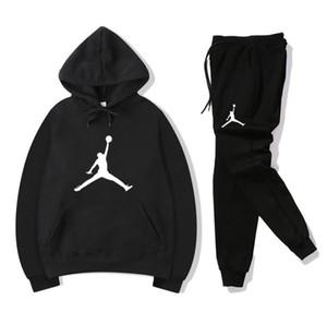 Uomini impostati sweatsuit Designer Tuta donna degli uomini hoodies + pantaloni Uomo Abbigliamento Felpa Pullover casual Tennis Tuta sportiva di basket sudore