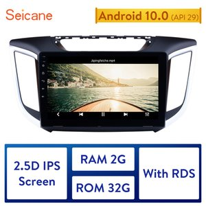 Seicane 2 DIN 10,1-дюймовый Android 10,0 Quad-Core автомобиля Радио GPS Navi Stereo Unit игрока 2014 2015 Hyundai IX25 CRETA