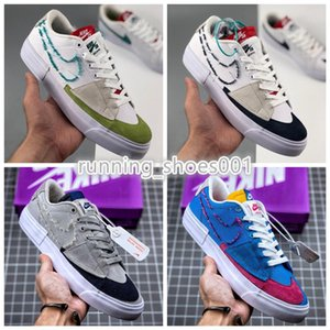 Top Qualtiy Nike SB Dunk ZOOM BLAZER Mid Edge Sneakers Men Women Canvas SB Blazer Kevin and Hell size 36-45