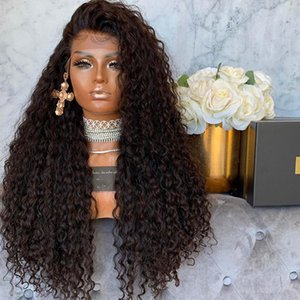 Mongolian Kinky Curly Full Density Human Hair 13x6 Lace Front Wigs Jerry Curly Pre Plucked Hairline 360 Lace Frontal Wigs