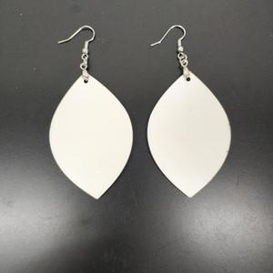sublimación en blanco Pendientes de doble cara sublimación pendiente eardrop hojas con forma de bricolaje pendiente del envío libre mejor regalo