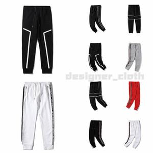 Новые 20SS дизайнерские Брюки мужские Лучшие моды качества Фирменные спортивные Pant Боковые нашивки Sweatpants бегуны повседневные брюки Одежда Уличная