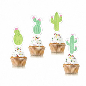 Materiali Cactus Cake Topper Cupcake Toppers compleanno di cerimonia nuziale della decorazione della torta Jungle Party Estate DpKZ #