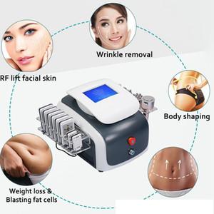 2020 NEW 6 IN 1 Ultrasound Cavitation Machine 40K Ultrasonic Cavitation Lipo laser RF Vaccum Body Slimming Machine DHL