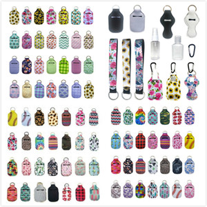 163 Stili Personalizza neoprene Hand Sanitizer Bottle Holder Keychain Borse 30ml Hand Sanitizer Bottle Holder Chapstick Con Portachiavi Baseball