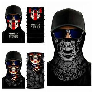 Mode crâne écharpe Bandanas Imprimer Masques nouveauté cyclisme Coiffures transparente magique Écharpe Halloween Party Wraps Bandanas IIA211