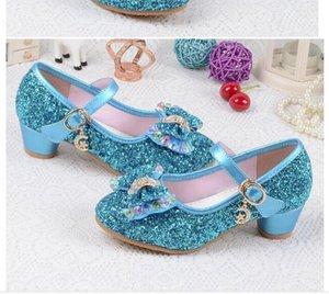 Baby Princess Girls Shoes Sandals For Kids Girls' shoes Glitter Butterfly Low Heel Children Shoes Girls Party Enfant meisjes schoenen WL479