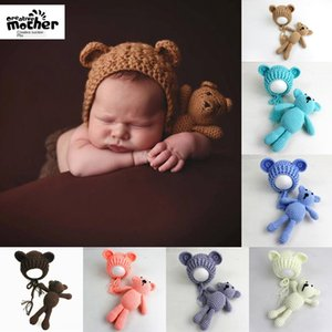 New baby photo Wool baby photo bear hat wool woven cartoon hat 280